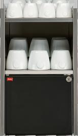 Melitta® bar-cube mc-cw - Milchkühlschrank mit Tassenwärmer