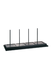 Wooden shelf black