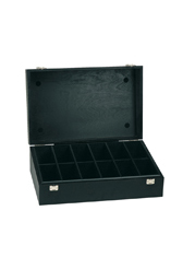 Wooden box in black (large)