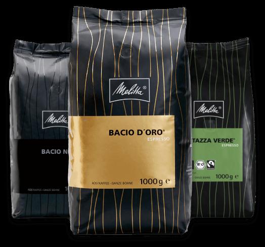 Der passende Kaffee für Gastro Kaffeemaschinen von Melitta