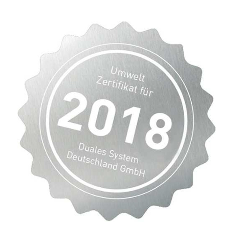 Umweltzertifikat 2018